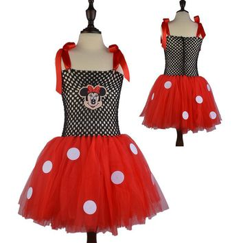 New Kids Dress Minnie Mouse Princess Party Costume Superheor Cosplay Infant Clothing Baby Clothes Birthday Girls Tutu Dresse