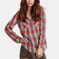 Hidden Valley Plaid Blouse - New Arrivals - Clothing