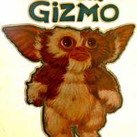 GREMLINS Gizmo Vintage t-shirt iron-on transfer Original Authentic NOS 80s spielberg
