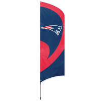 New England Patriots NFL Applique & Embroidered Tall Team Flag (102x30)
