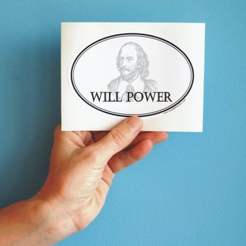 will power oval sticker