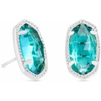Kendra Scott: Ellie Silver Stud Earrings In London Blue