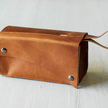 Leather Dopp Kit/Toiletry Bag