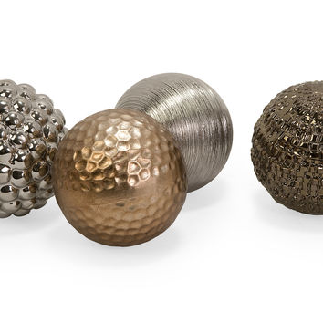 Metallic Finished Orbs - Set of 4