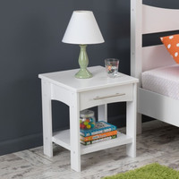 Addison Twin Side Table White