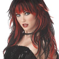 Tempting Tresses Wig (One Size,Red/Black)