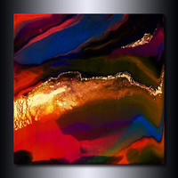 Metallic Painting: Multi Coloured Abstract