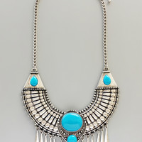 Aztec Turquoise Statement Necklace