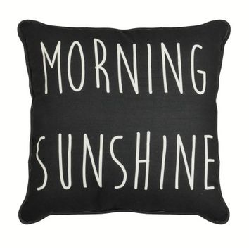 Formula Morning Sunshine Reversible Print Decorative Pillow, Black and White - Walmart.com