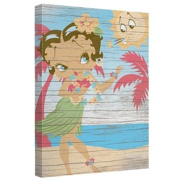 Betty Boop - Hula Boop Canvas Wall Art With Back Board