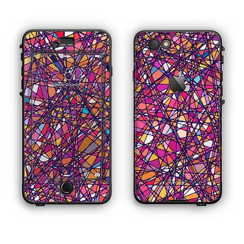 The Shards of Neon Color Apple iPhone 6 LifeProof Nuud Case Skin Set