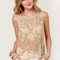 Costa Blanca Brilliance Sheer Beaded Top