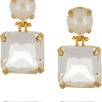 Lele Sadoughi - Solar gold-plated, faux pearl and crystal earrings
