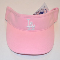 Youth Los Angeles Dodgers Pink Visor Hat - LA MLB Child Baseball Golf Cap