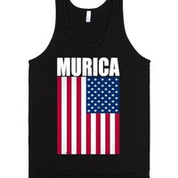 Murica Couples-Unisex Black Tank