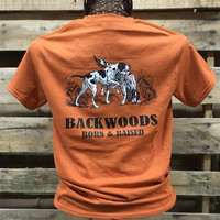 SALE Backwoods Born & Raised Hunting Dogs Unisex Bright T Shirt