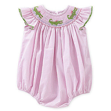 Starting Out 3-24 Months Alligator Smocked Bubble Romper | Dillards.com