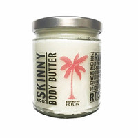 Skinny & Co. Coconut Oil Jojoba Rose Whipped Body Butter 9 Oz Jar