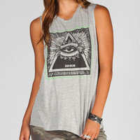 Infamous Beware Womens Muscle Tank Light Grey  In Sizes