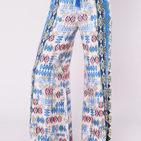 When In Greece Palazzo Pants - Multi