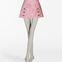 Skirts: pencil & flared skirts - Women | Dolce&Gabbana - JACQUARD SKIRT WITH JEWEL APPLICATIONS