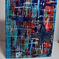 Confined Mixed Media Canvas Board. Ready to Ship