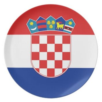 Croatian Flag Plate