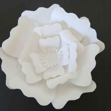 """big 6"""" sculpted paper rose for wedding flower wall photo backdrop, baby nursery decor, popular home decorating trend"""
