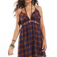 Backless Tailgate Dress in Plaid