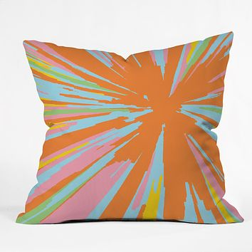 Rosie Brown Pin Wheel Throw Pillow