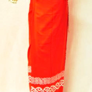 Handmade Red Wrap-A-Round Skirt