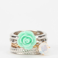 Rosewater Stackable Ring - Set of 4