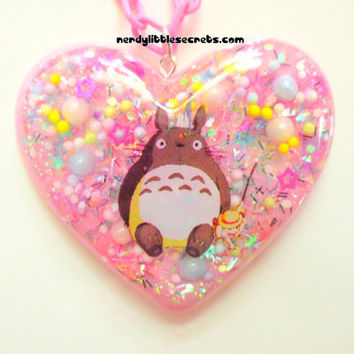 Pastel Totoro Cute Pink Resin Necklace
