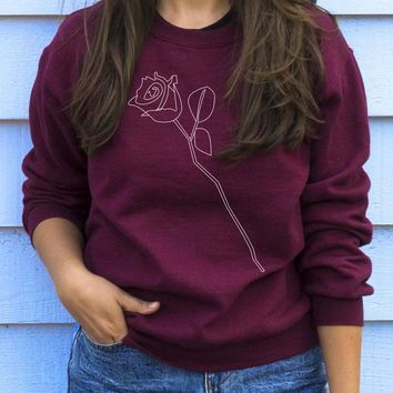 Delicate Rose Sweatshirt