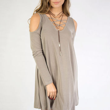 Olive The Love In The World Cold Shoulder Dress