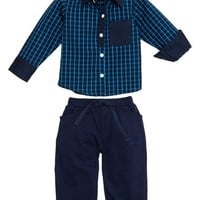 Infant Boy's Masalababy 'Julien' Check Shirt & Pants