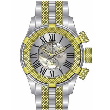 Invicta 17436 Men's Bolt Sport Gen III White MOP Dial Two Tone Steel Chronograph Watch