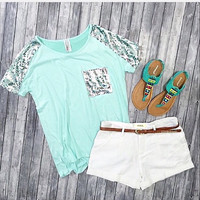 Catch Your Eye Top - Mint