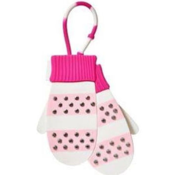 Bath & Body Works Scentportable Car Freshner Hanger Pink & White Mittens