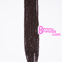 Brown Single Ended Synthetic Dreadlock Extensions
