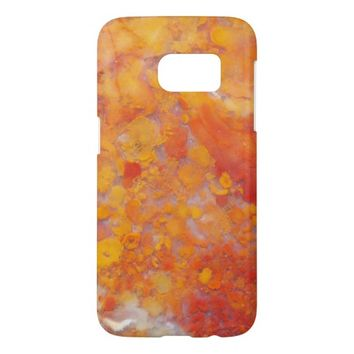 Orange Moss Agate Pattern Samsung Galaxy S7 Case