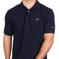Classic Pique Polo in Navy, Featuring Longshanks the Fox by Vineyard Vines