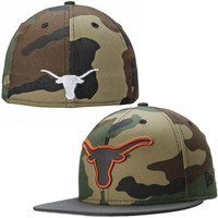 Texas Longhorns New Era Camoflect 59FIFTY Fitted Hat – Camo