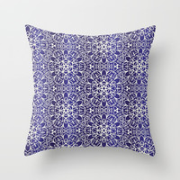 Midnight Flowers Throw Pillow by Tanyadraws