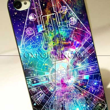 Millenium Falcon Star Wars Galaxy Nebula - for iPhone 4/4S case iPhone 5 case Samsung Galaxy S2/S3/S4 case hard case