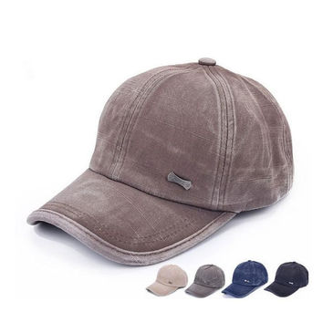 Unisex Washed Denim Hip Hop Street Baseball cotton cap Hat