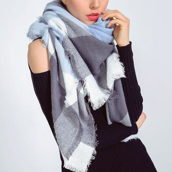 Fashion Women Warm Blanket Scarf Lovely Wrap Shawl (140*140cm) [9572846799]