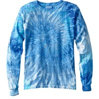 Tie-Dye Mens 100% Cotton Tie Dyed Long Sleeve T-Shirt CD2000