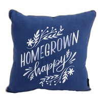 Dayanara Homegrown Happy Throw Pillow