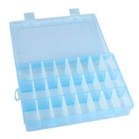New Practical Adjustable Plastic 24 Compartment Storage Box Case Bead Rings Jewelry Display Organizer 25UY